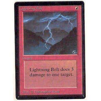 Magic the Gathering Beta Single Lightning Bolt - NEAR MINT (NM)