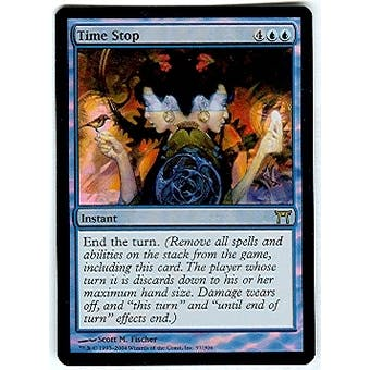 Magic the Gathering Champs of Kamigawa Single Time Stop Foil - SLIGHT PLAY (SP)