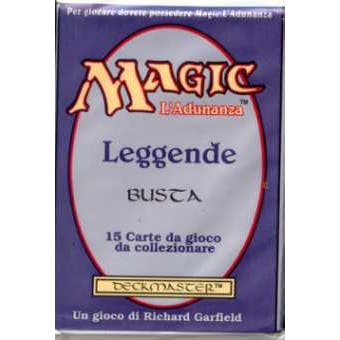 Magic the Gathering Legends Italian Booster Pack UNSEARCHED