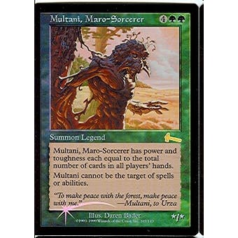 Magic the Gathering Urza's Legacy Single Multani, Maro-Sorcerer Foil - SLIGHT PLAY (SP)