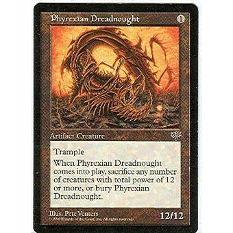 Magic the Gathering Mirage Single Phyrexian Dreadnought - SLIGHT PLAY (SP)