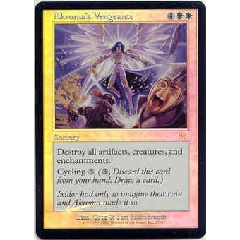 Magic the Gathering Onslaught Single Akroma's Vengeance Foil - MODERATE PLAY (MP)