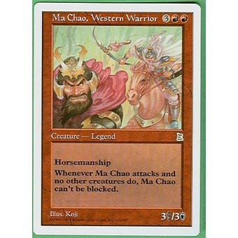 Magic the Gathering Portal 3: 3 Kingdoms Single Ma Chao, Western Warrior - NEAR MINT (NM)