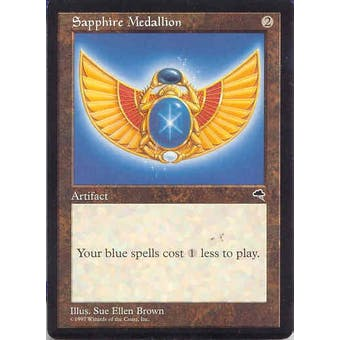 Magic the Gathering Tempest Single Sapphire Medallion - NEAR MINT (NM)