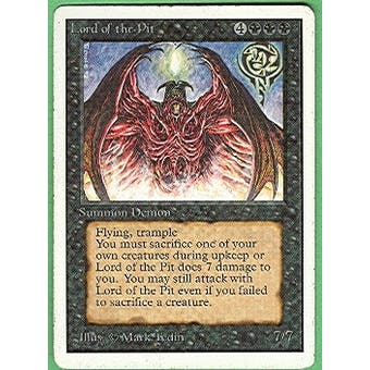 Magic the Gathering Unlimited Single Lord of the Pit - SLIGHT PLAY (SP)