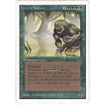 Magic the Gathering Unlimited Single Force of Nature - SLIGHT PLAY (SP) Sick Deal Pricing
