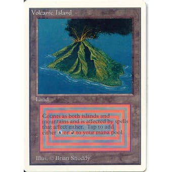 Magic the Gathering Unlimited Single Volcanic Island - SLIGHT PLAY (SP)