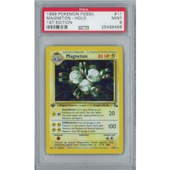 Pokemon Fossil 1st Edition Magneton 11/62 PSA 9