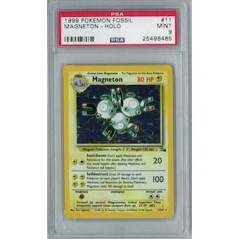 Pokemon Fossil Magneton 11/62 PSA 9