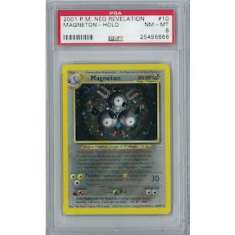 Pokemon Neo Revelation Magneton 10/64 PSA 8