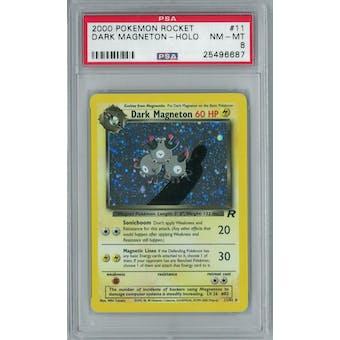 Pokemon Team Rocket Dark Magneton 11/82 PSA 8