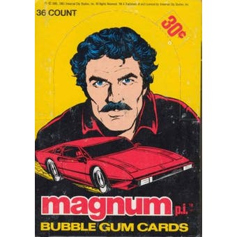 Magnum P.I. Wax Box (1983 Donruss)