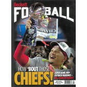 2020 Beckett Football Monthly Price Guide (#351 April) (Mahomes Super Bowl MVP)