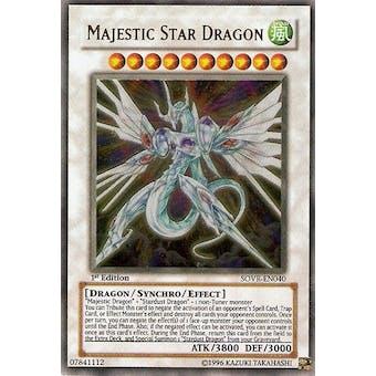 Yu-Gi-Oh Stardust Overdrive 1st Edition Single Majestic Star Dragon Ultimate Rare