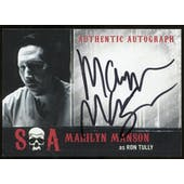 Marilyn Manson Sons of Anarchy Seasons 6-7 as Ron Tully Autograph Card # MM