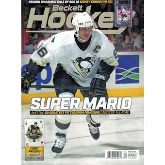2020 Beckett Hockey Monthly Price Guide (#340 December) (Mario Lemieux)
