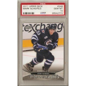 2011/12 Upper Deck Young Gun Mark Scheifele PSA 10 card #248