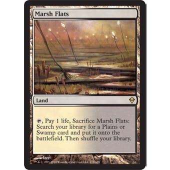 Magic the Gathering Zendikar Single Marsh Flats FOIL NEAR MINT (NM)