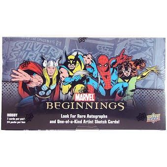Marvel Beginnings Trading Cards Hobby Box (Upper Deck 2011)