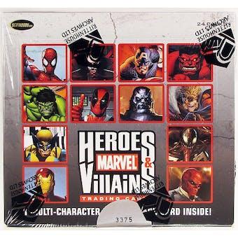 Marvel Comics Heroes & Villains Trading Cards Box (Rittenhouse 2010)