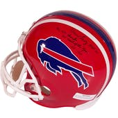Marv Levy Autographed Buffalo Bills Full Size Football Helmet w Inscription