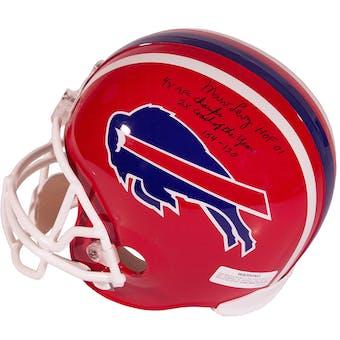 Marv Levy Autographed Buffalo Bills Full Size Football Helmet w Inscription