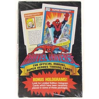 Marvel Universe Series 1 Wax Box (1990 Impel)