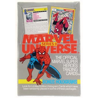 Marvel Universe Series 2 Wax Box (1991 Impel)