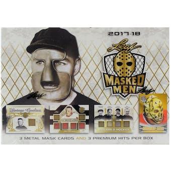 2017/18 Leaf Masked Men Hockey Hobby Box
