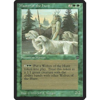 Magic the Gathering Legends Single Master of the Hunt - MODERATE PLAY (MP) Sick Deal Pricing