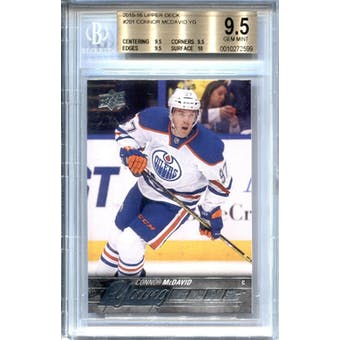 2015/16 Upper Deck Young Gun Connor McDavid BGS 9.5 card #201