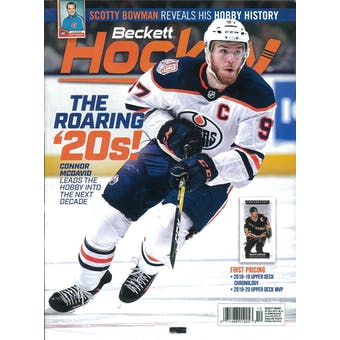2019 Beckett Hockey Monthly Price Guide (#326 October) (Connor McDavid)