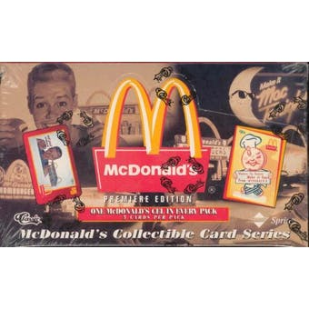 McDonalds Premiere Edition Collectible Card Series Box (1996) (Reed Buy)