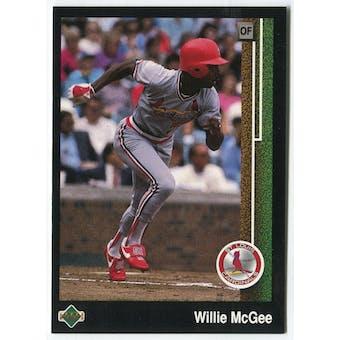 1989 Upper Deck Willie McGee St. Louis Cardinals Blank Back Black Border Proof