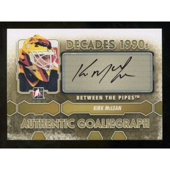 2012/13 In the Game Between The Pipes Autographs #AKM Kirk McLean DEC Autograph