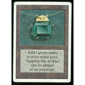 Magic the Gathering Unlimited Mox Emerald - MODERATE/HEAVY PLAY (MP/HP)