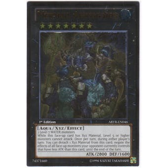 Yu-Gi-Oh Abyss Rising Single Mermail Abyssgaios Ultimate Rare - NEAR MINT (NM)