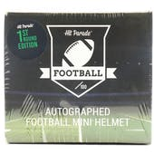 2020 Hit Parade Auto Football Mini Helmet 1st Round Ed 1-Box Ser 3- DACW Live 8 Spot Random Division Break #2