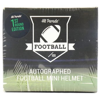 2021 Hit Parade Autographed Football Mini Helmet 1ST ROUND EDITION Hobby Box - Series 5 - Allen & Lawrence!