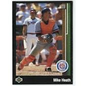 1989 Upper Deck Mike Heath Detroit Tigers Blank Back Black Border Proof