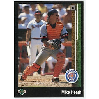 1989 Upper Deck Mike Heath Detroit Tigers Blank Back Black Border Proof