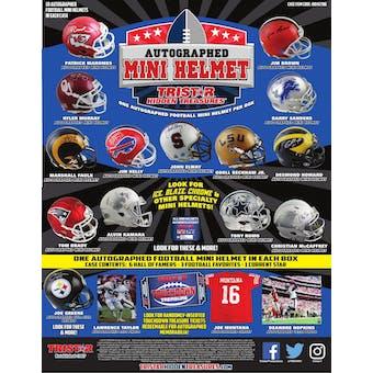 2019 TriStar Hidden Treasures Autographed Mini Helmet Football Hobby Box