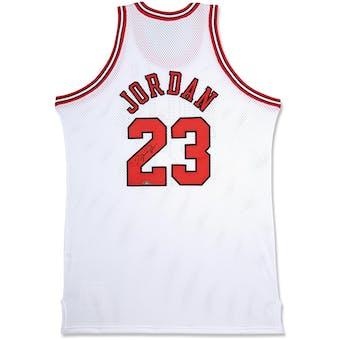 Michael Jordan Autographed Chicago Bulls White Basketball Jersey UDA