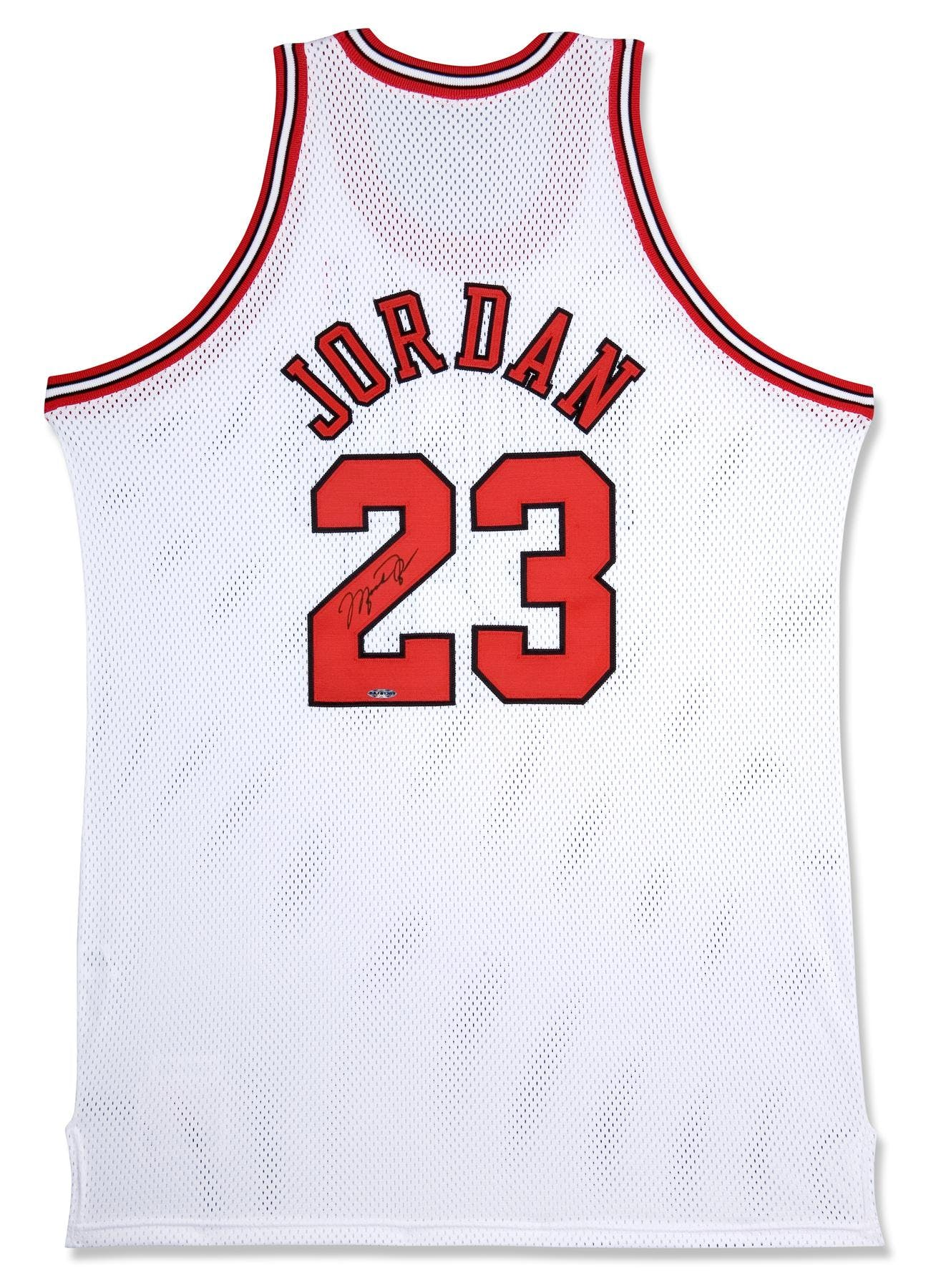 new style e3953 fa533 Michael Jordan Autographed Chicago Bulls White Basketball Jersey UDA