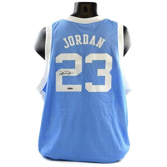Michael Jordan UNC UDA Autographed Jordan Collection Jersey (Holo Only)