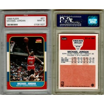 1986/87 Fleer Basketball Michael Jordan #57 PSA 9 (MINT)