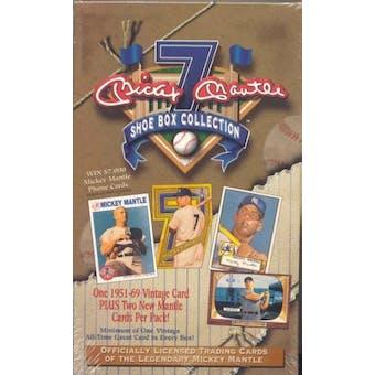 1997 ScoreBoard Mickey Mantle Shoebox Collection Baseball Box