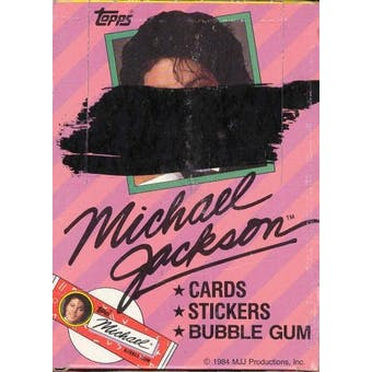 Michael Jackson Series 1 Wax Box (1984 Topps)