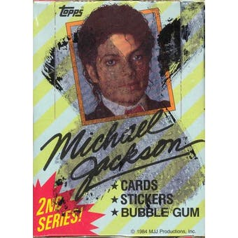 Michael Jackson Series 2 Wax Box (1984 Topps)