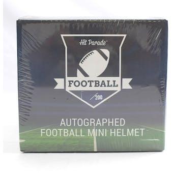 2019 Hit Parade Autographed Football Mini Helmet Hobby Box - Series 5 - Mahomes, Favre, & Russell Wilson!!!!!